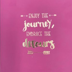 🌷3 for 25🌷purple journal -Enjoy the Journey-new